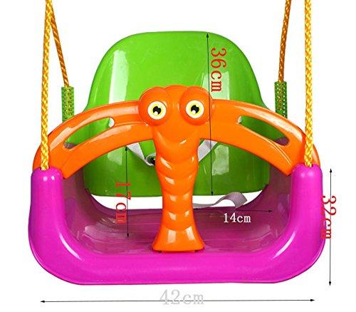 Ailin home- Kinder Spielzeug Kinder Indoor Cradle Swing Sitz Kinder Kinder Kleinkind Verstellbare Outdoor Garten Seil Sicherheit Safe Swing Sitz - Geeignet für 2 bis 6 Jahre alt