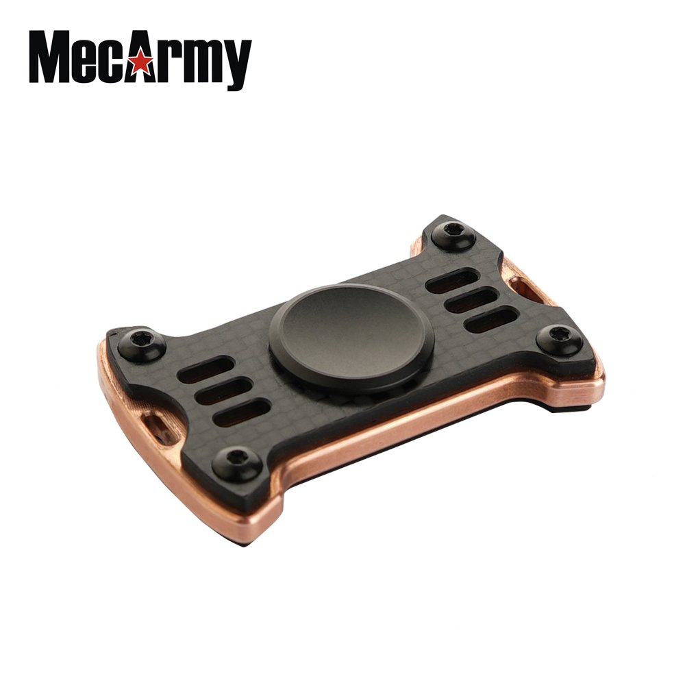 MecArmy GP1 Titanium Fidget Spinner EDC Toy Premium Hand Spinner Relieves Stress and Anxiety (Carbon Fibre+Copper)