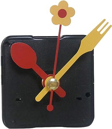 DOITOOL 1 Pezzi Meccanismo Orologio al Quarzo silenzios meccanismo di Movimento per Orologio Kit di movimenti per Orologi da Parete con 3 lancette