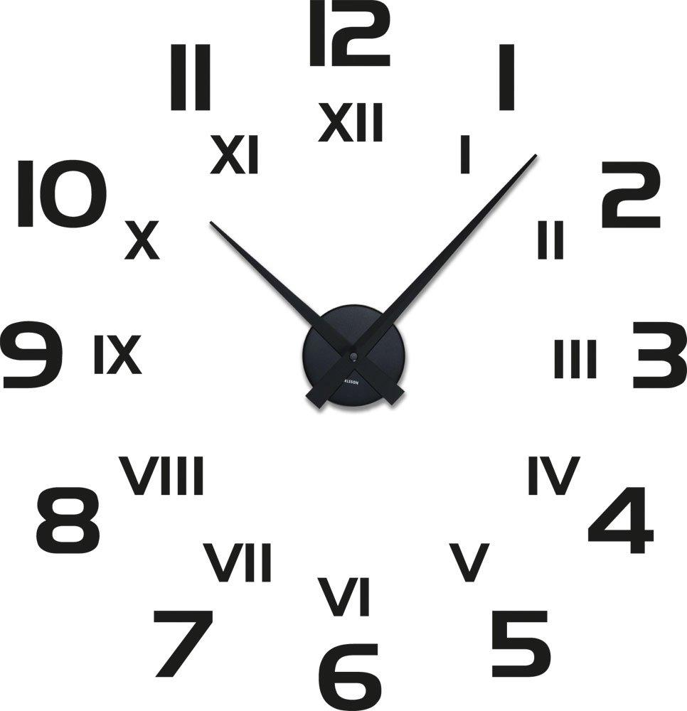 Wanduhr römische zahlen  Amazon.de: Graz Design 800260_BK_070 Wandtattoo Uhr mit Uhrwerk ...