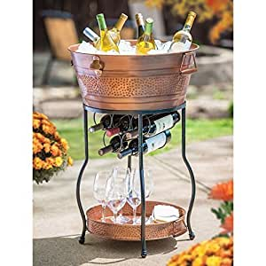 Amazon Com Galvanized Copper Party Bucket With Stand And