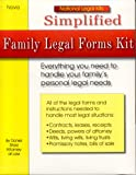Simplified Family Legal Forms Kit, Daniel Sitarz, 1892949180