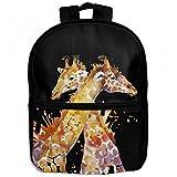 Giraffe Africa Zebra Childrens School Backpacks Casual Daypack Travel Outdoor For Boys And Girls