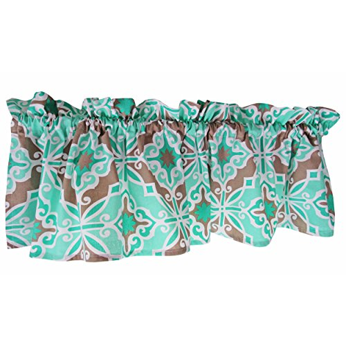 Crabtree Collection Aqua Mint Ice Green Curtain Valance for