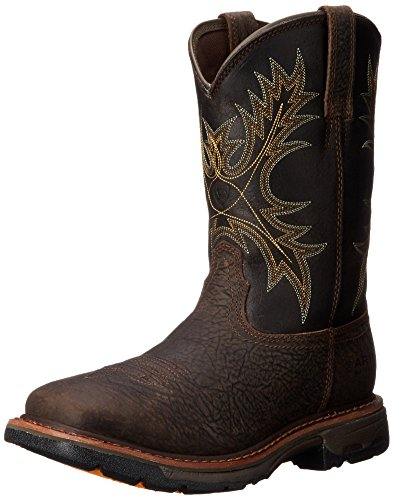 (Ariat Men's Workhog Wide Square Toe H2O Work Boot, Bruin Brown, 11.5 2E US)
