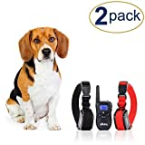 Two Shock Collar for Small Dogs with Remote + FREE Dog Clicker Training - 3 Mode (sound, vibration & shock) - Save Money with Rechargeable Batteries - Clicker + Shock Collar = Faster Results