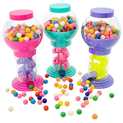 Kicko 9.75 Inch Twirling Gumball Machine for Kids - Galaxy Candy Dispenser - Perfect for Birthdays, Kiddie Parties, Christmas, Novelties, Kitchen Buffet, Gift, Party Favor and Supplies]()