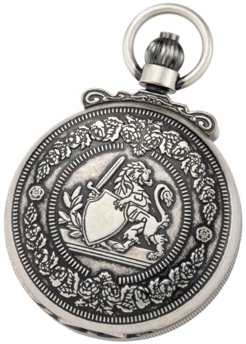 Charles-Hubert-Paris-3866-S-Classic-Collection-Antiqued-Finish-Double-Hunter-Case-Mechanical-Pocket-Watch