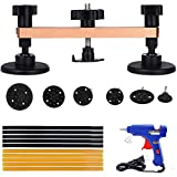 Gliston Pops-a-dent Bridge Dent Puller Kits with 10pcs Glue Sticks Hot Melt Glue Gun PDR Tools (Golden)