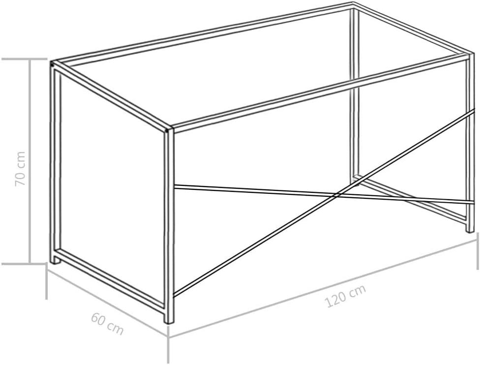 vidaXL Scrivania per Computer Stile Industriale Elegante Semplice Moderno Lavoro Arredo Ufficio Tavolo PC Nero 120x60x70 cm Truciolato e Metallo