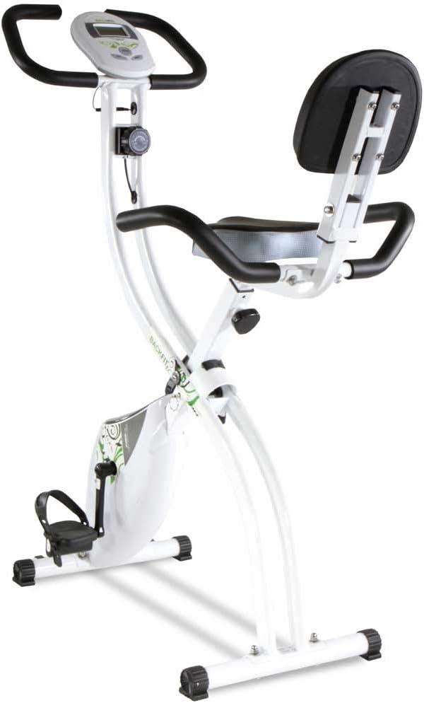 Tecnovita by BH Bicicleta estática Plegable Back FIT YF91 Sillín con Respaldo. Sistema de Freno magnético. Monitor LCD fácil Uso