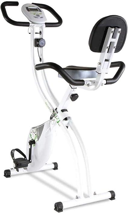 Tecnovita by BH Bicicleta estática Plegable Back FIT YF91 Sillín con Respaldo. Sistema de Freno magnético. Monitor LCD fácil Uso: Amazon.es: Deportes y aire libre