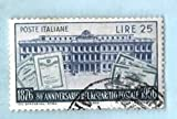 Used Italy Postage Stamp %281956%29 25L