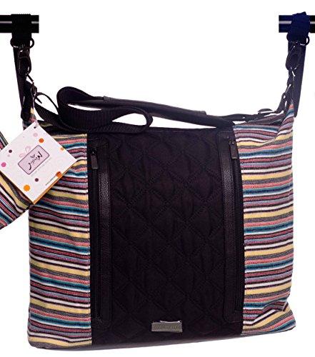 Mizronit Diaper bag + diaper changing mat + baby wipes holder piece