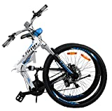"""Best Dual Suspension Mountain Bikes - Camp Alloy 26"""" Folding Bike 21 Speed Dual Review"""