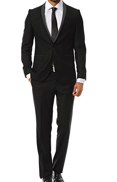 Keskin Collection Herren Anzug Schwarz Slim Fit Modell alle Größen Neu Edel