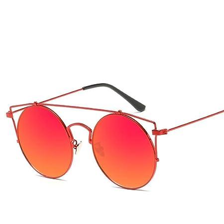 Aoligei Sonnenbrille Damen Europäische und amerikanische Mode Metall Sonnenbrille Runde cqKBXFp7r