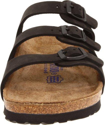 Birkenstock Women's Florida Soft Footbed Birko-Flor  Black Nubuck Sandals - 37 M EU / 6-6.5 B(M) US by Birkenstock (Image #4)