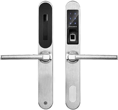 Byx- Cerradura Inteligente para Puerta, aleación de Aluminio, Puerta Estrecha, Puerta de plástico, Acero, Puerta corredera, Huella Dactilar, Cerradura con contraseña: Amazon.es: Hogar