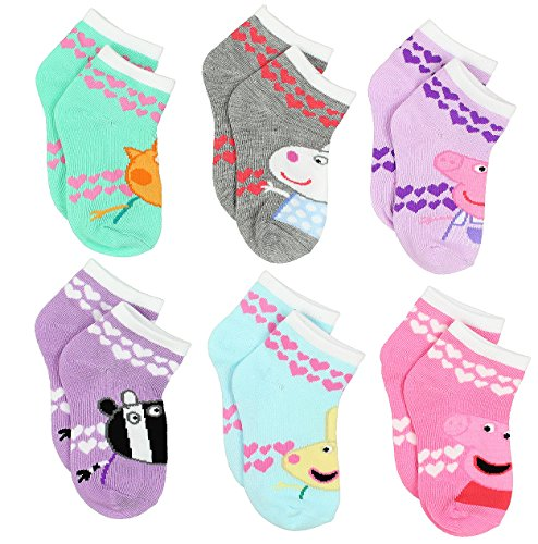 Peppa Pig Girls 6 pack Socks (2-4 Toddler (Shoe: 4-7), Friends Quarter Multi) - http://coolthings.us