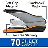Swingline Stapler, Optima 70, Desktop Stapler Heavy Duty, 70 Sheet Capacity, Reduced Effort Stapler for Office Desk Accessories or Home Office Supplies, Half Strip, Silver