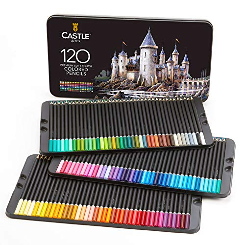 Castle Art Supplies 120 Colored Coloring Pencils Set for Adults Artists Professional | Featuring soft series core for…
