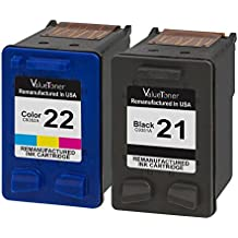 Valuetoner Remanufactured Ink Cartridge Replacement 2 Pack for HP 21 HP 22 C9351AN C9352AN (1 Black, 1 Tri-Color) for HP OFFICE 4315 1410,DESKJET F4180,F2210,D1420,F380,FAX 3180 1250,PSC 1401 Printer
