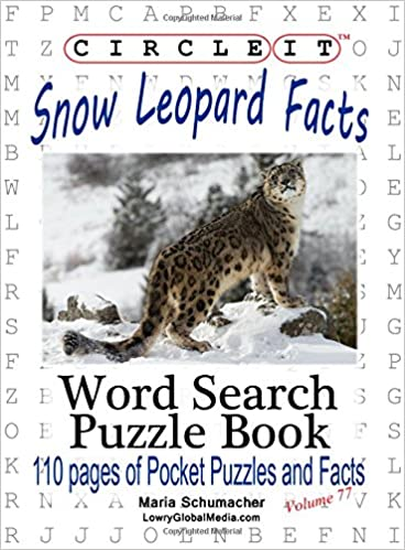 Circle It, Snow Leopard Facts, Word Search, Puzzle Book
