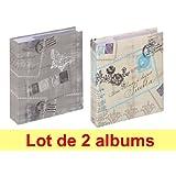 Lot de 2 albums photos Walther Cosenza à pochettes pour 200 photos 11.5x15