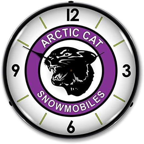 Arctic Cat Lighted Wall Clock