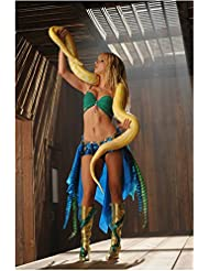 Heather Morris 8 Inch x 10 Inch PHOTOGRAPH Glee (TV Series 2009 - 2015) as Britney Spears w/Snake Pose 1 kn