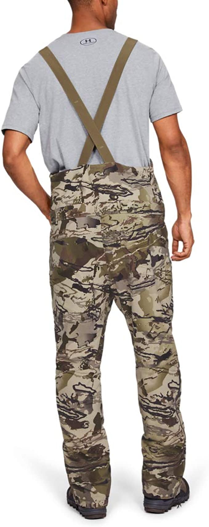 Under Armour Men/'s Grit Bib Mid Season Forest Camo Overalls Hunting Pants M 3XL