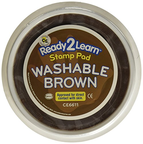 Center Enterprise CE6611 READY2LEARN Circular Washable Pad, Brown (Stamp Washable Blue Pad)
