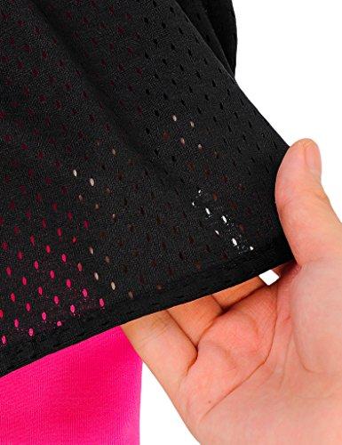 Jimmy Design - Pantalón corto deportivo - para mujer Schwarz + Rosa