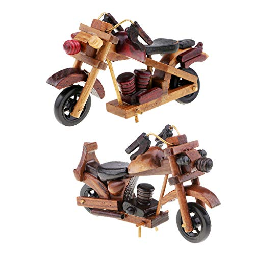 SM SunniMix 1:18 Scale Wooden Racing Motorcycle Model Handwork Motorbike Model Home Ornaments Friends Gift Kids Toy