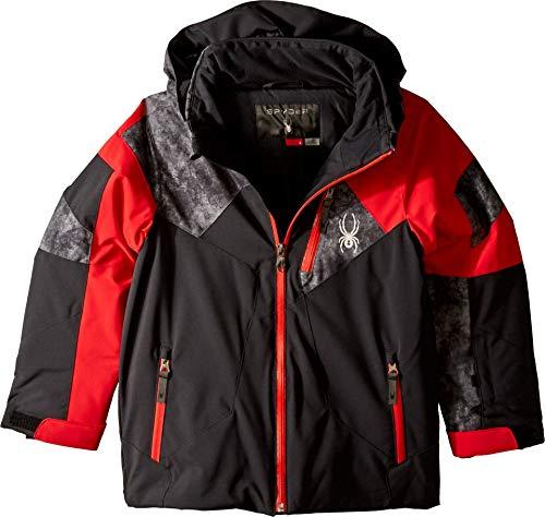 - Spyder Kids Boy's Leader Jacket (Big Kids) Black/Red/Cloudy Tonal Distress Polar 8