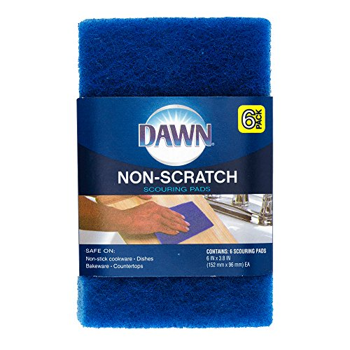 Dawn Non-Scratch Scour Pads, Pack of 6, Blue