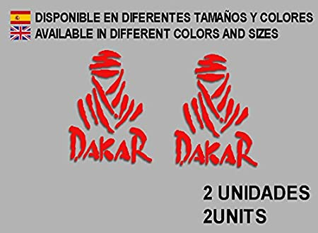 Ecoshirt L6-347Y-MHJ4 Pegatinas Dakar F68 Vinilo Adesivi Decal Aufkleber Клей MTB Stickers Bike, Rojo: Amazon.es: Coche y moto