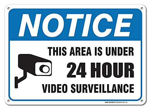 Surveillance Warning USA Aluminum UV Professional Graphics Easy