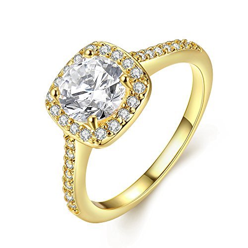 [Eternity Love Women's 18K Rose/White/KC Gold Plated CZ Crystal Engagement Rings Best Promise Rings Anniversary Wedding Bands for Lady Girl,] (Homemade Wolf Costumes For Kids)