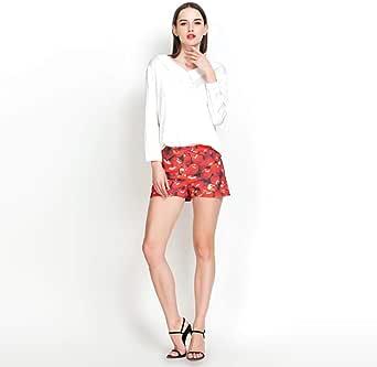 Blusas Y Camisas para Mujer Camisa De Mujer Satén Cardigan@Blanco_XL: Amazon.es: Ropa y accesorios
