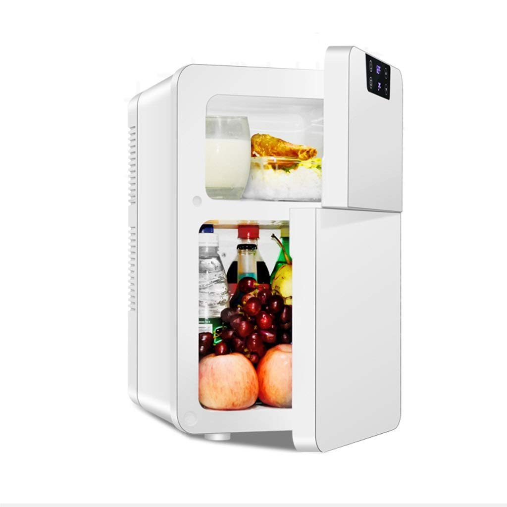 Outdoor Refrigerators Mini Small Refrigerator Microwave 20L Dual Refrigeration Car Home Small Refrigerator Double Door Insulin Refrigerator (Color : White, Size : 283248cm)