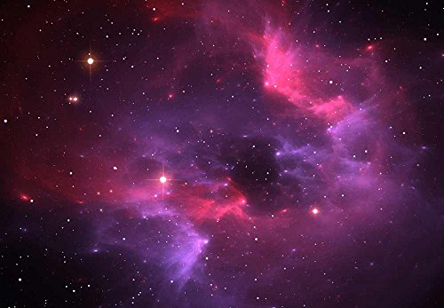 Pink and Purple Galaxies in a Sea of Stars Wall Mural