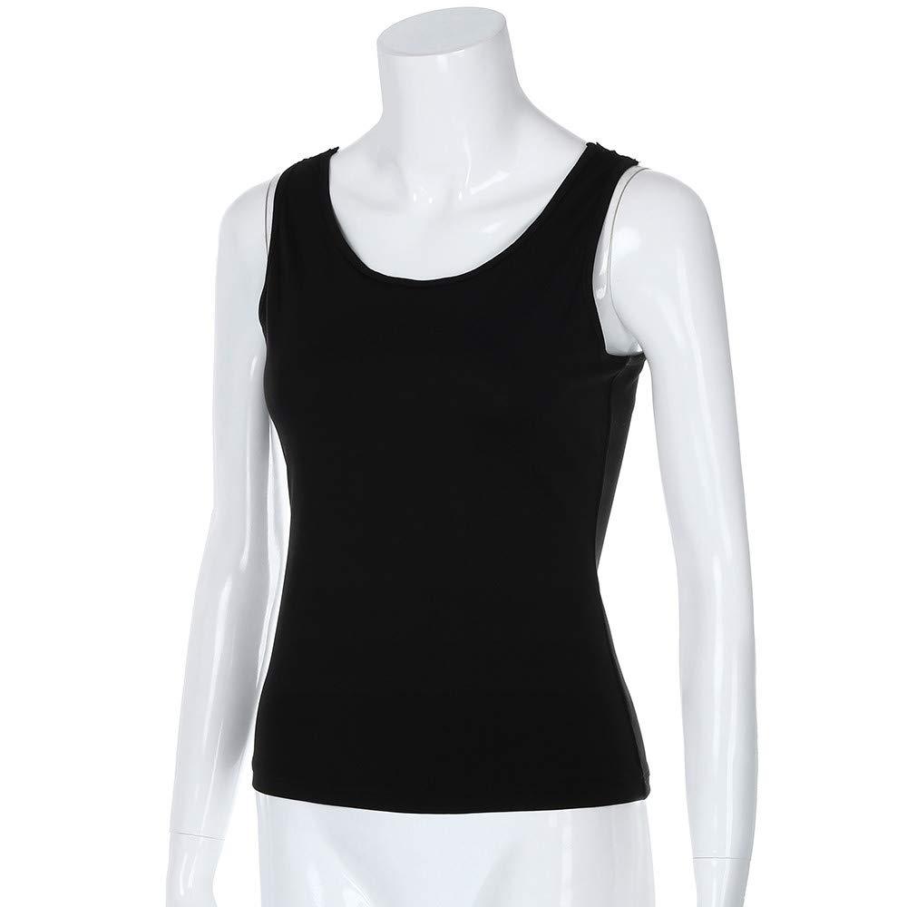 Manadlian Camiseta para Mujer Blusa de o-Cuello Verano Tops de Encaje para Mujer Correas de Hombro Espalda Chaleco Hueco Blusa Tops: Amazon.es: Ropa y ...