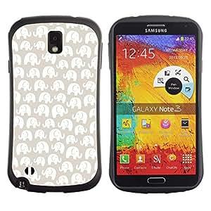 Suave TPU GEL Carcasa Funda Silicona Blando Estuche Caso de protección (para) Samsung Note 3 / CECELL Phone case / / White Pattern Beige Minimalist /