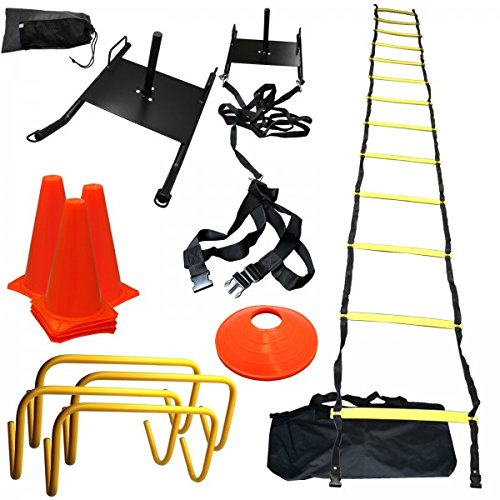 Step Ladder Training - BlueDot Trading BlueDot Trading-STRENGTH & Speed Agility Training Sled Ladder Cones Kit