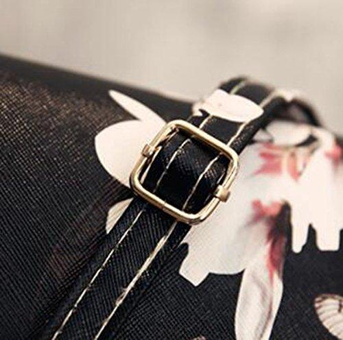 Fleur Paquet Paquet Sac Bandoulière Mode NEIYI Messenger Styling À Mini À Partie Serrure Sac TX Main White Papillon Sac Boucle Spray White Sac Sac Tendance Impression Clé Casual 741xwqI