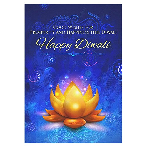 Treat Diwali - Afagahahs Golden Lotus Polyester Garden Flag Outdoor Banner Inidan Festive Diwali Decorative Large House Flags for Wedding Party Yard Home Decor