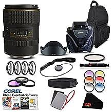Tokina 100mm f/2.8 at-X M100 AF Pro D Macro Lens (for Canon) International Model Lens Accessory Kit