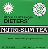 EIGHT BOXES of 30 Tea Bags Regular Strength Dieters' Nutra-Slim Tea Triple Leaves Brand